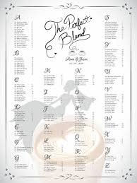 Printable Shower Chart Diy Printable Wedding Or Bridal Shower Single Seating Chart