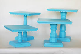Wood Scallops Cake stands