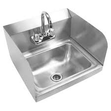 Commercial Stainless Steel Wall Mount Hand Sink With Splash Guards
