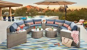 christopher knight home puerta grey outdoor wicker sofa set. Get The Look: A Pinterest-Worthy Patio For Summer Season Christopher Knight Home Puerta Grey Outdoor Wicker Sofa Set T
