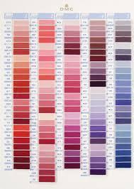 Dmc Embroidery Thread Color Chart