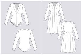 Bodysuit Sewing Pattern Beauteous Named Clothing 4848 Tuuli Vneck Jersey Dress Bodysuit