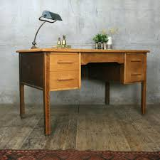 vintage rustic abbess oak school teachers desk