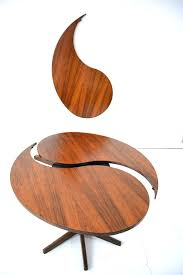 ying yang table ole yang table in rosewood produced by son yin yang coffee table glass