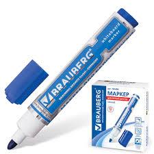 <b>Маркер</b> для доски <b>Neo</b>, с клипом, 5 мм, синий, <b>BRAUBERG</b> 150488