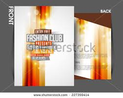 Vector Fashion Front Back Flyer Template Stock Vector 227359414 ...