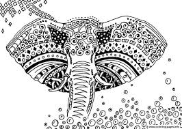 Elephant Coloring Pages Printable Adult Africa Elephant Coloring