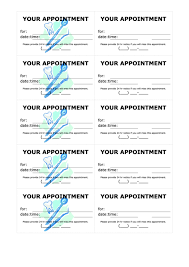 Appointment Card Template Top 8 Appointment Card Templates Free To Download In Pdf Format