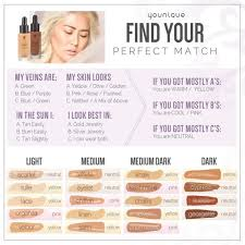 Younique Touch Foundation Color Chart Younique Makeup Color Match Makeupview Co