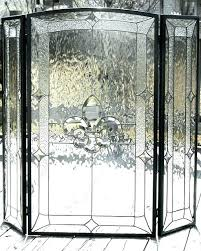 glass fireplace screen. Stained Glass Fireplace Screen Frame .