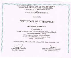 Certificate Of Appearance Sample Deped Copy Best C Printable