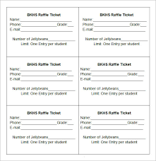 Draw Ticket Template Draw Ticket Template 23 Raffle Ticket Templates Pdf Psd Word