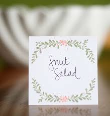 Free Name Cards Free Printable Food Label Or Place Card From Lemon