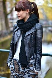 ways to wear leather jacket this fall daily look