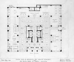Floor Plan Of Proposed New Banking Quarters For The Royal