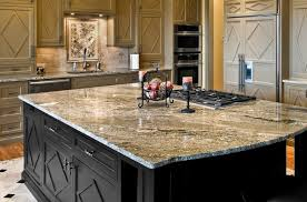 exciting granite countertops for large black kitchen island