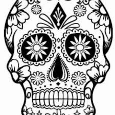 Wondrous Design Sugar Skull Color Pages Printable Coloring Save To