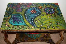 painted coffee table ideasfor Hand Painted Table Tops