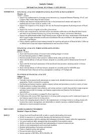 Financial Planning And Analysis Resume Examples Financial Analyst Planning Resume Samples Velvet Jobs 17