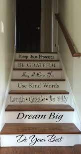 Best  Painted Stair Risers Ideas On Pinterest - Painted basement stairs