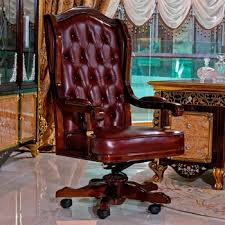 leather antique wood office chair leather antique. YB61 Luxury Antique Vintage Chesterfield Leather Office Chair Solid Wood  Upholstery Chairs Swivel Boss L