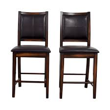 brown leather counter stools for