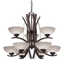 portfolio lebach 9 light olde bronze chandelier