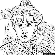 100 Free Coloring Page Of The Henri Matisse Painting Madame Matisse