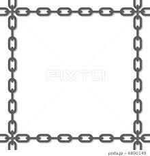 鎖のフレームのイラスト素材 6890149 Pixta
