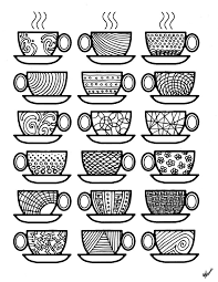 coffee coloring page. Modren Page Get The Coloring Page Coffee Cups Intended Coloring Page F