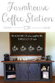Click here to read my full disclosure policy. Farmhouse Coffee Station Pinterest 100318 Lemons Lavender Laundry
