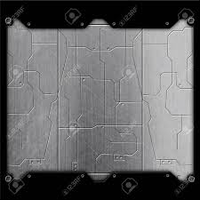 sci fi wall texture. Fine Wall Illustration  Scifi Wall Metal Wall And Circuits With Black Frame  Background Texture 3d Illustration Technology Concept For Sci Fi Wall Texture