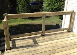 install deck railing building wooden railings installing wood posts and installing deck railing a36