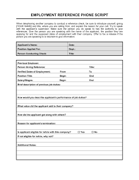 Reference Check Phone Script Template Word Pdf By