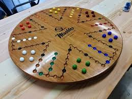 Wooden Aggravation Board Game Pattern Simple 32 Player 32 Inch Cherry Aggravation Board Game By Woodshaver Tony