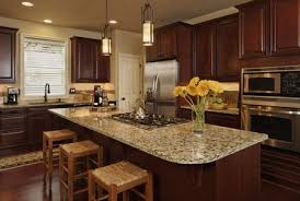 kitchen counter. Custom Kitchen With Granite Slab Counter Tops