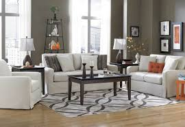 living room white fur area rug glass coffee table brown dual leather power reclining