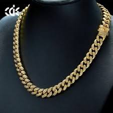18k gold hip hop fashion style jewelry iced out chains