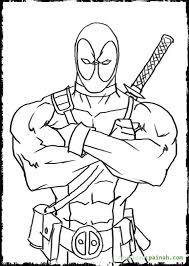 Amazing Marvel Kleurplaat Deadpool Deadpool 7 Gratis Malvorlage In