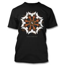 Dove Design T Shirts Official August Burns Red Dove Circle T Shirt Apparel August Burns Red
