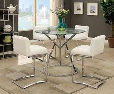 5 pc furniture of america livada ii white counter height dining table set cm3170rpt