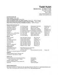 Musician Resume Sample Musiccityspiritsandcocktail Com