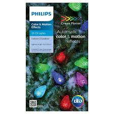 Philips Motion Effects Christmas Lights Philips 25 Ct Led C9 Faceted Lights Color Motion Effects