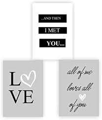 Greenluup 3er Set Poster Spruch A4 Liebe All Of Me Loves All Of