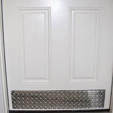 todd manufacturing diamond plate aluminum door bottom kick plate diamond plate the garage