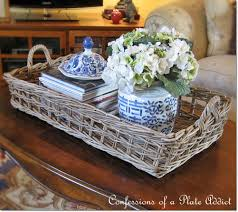 Coffee Table Tray Decor Confessions Of A Plate Addict Pottery Barn Inspired Rustic Coffee