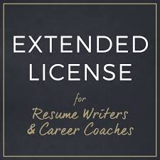Extended License For Resume Writers And Career Coaches Etsy