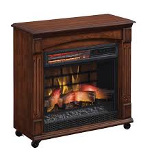 chimneyfree rolling mantel infrared quartz electric fireplace space heater com