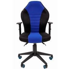 Игровое <b>кресло Chairman Game 8</b> Black/Blue — купить игровое ...