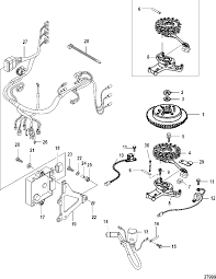 flywheel ecu and wiring harness com mercury mariner 25 30 jet 25 efi 3 cylinder 4 stroke